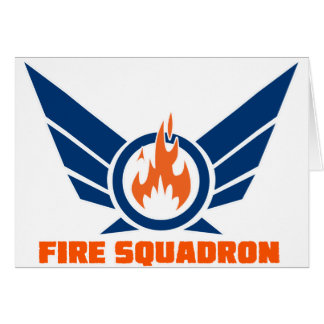Fire Squadron Logo Gear Greeting Cards