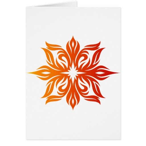 Fire Star Greeting Cards