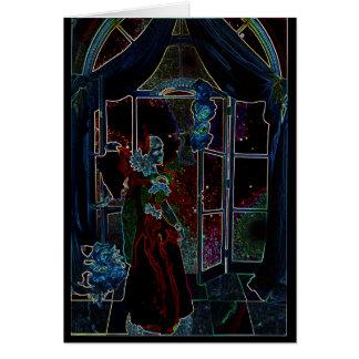 Fire Star Princess CricketDiane Fantasy Art Greeting Card