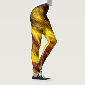 Fire Storm Yellow Leggings