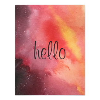 Fire Sunset Greeting Card 11 Cm X 14 Cm Invitation Card