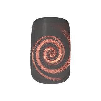 Fire Swirl Minx Nail Art
