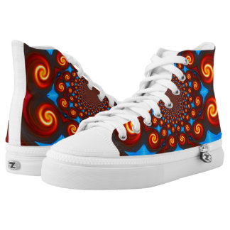 Fire Swirl Womens Shoes Printed Shoes