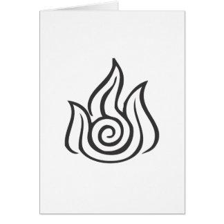 Fire Symbol Greeting Card