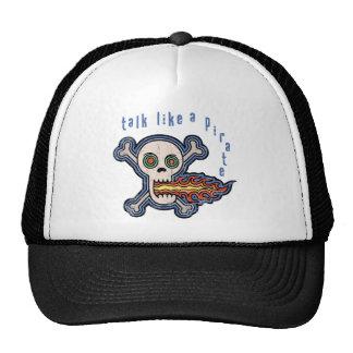 Fire Talk Like a Pirate Mesh Hat