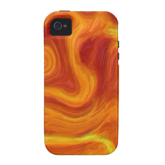 Fire Texture TPD iPhone 4 Cases