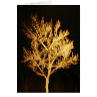 Fire tree greeting card