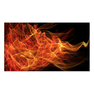 Fire Triangle Pack Of Standard Business Cards