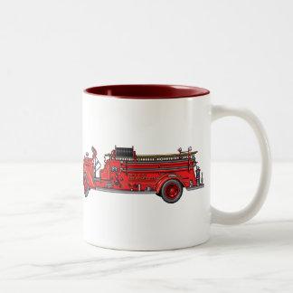 Fire Truck_01 & 02 Two-Tone Coffee Mug