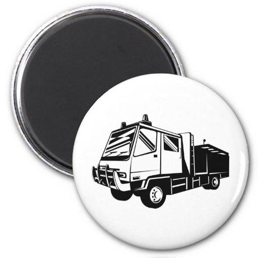 fire truck appliance lorry refrigerator magnet