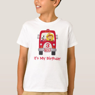 Fire Truck Birthday Boy T-Shirt