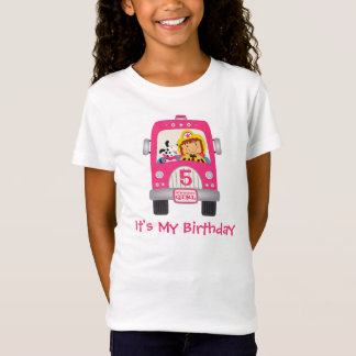 Fire Truck Birthday Girl T-Shirt