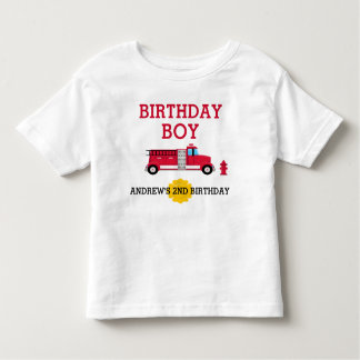 Fire Truck Birthday T-shirt Toddler Kid