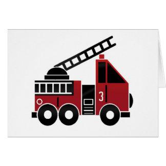 Fire truck blank greeting card
