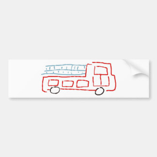 Fire truck bumper sticker
