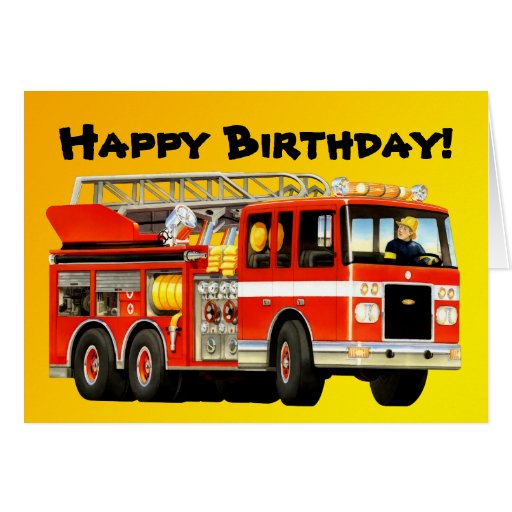 Fire Truck Greeting Cards
