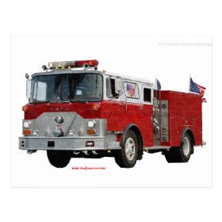 Fire_Truck_Flags Postcard