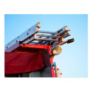 fire truck ladder close up postcard