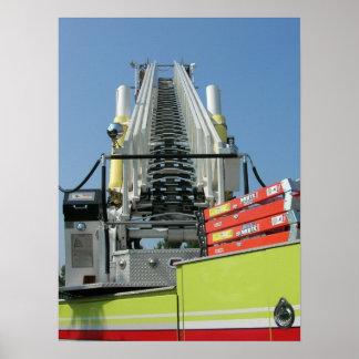 Fire Truck Ladder Poster