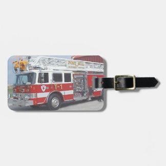 Fire Truck Luggage Tag. Luggage Tag