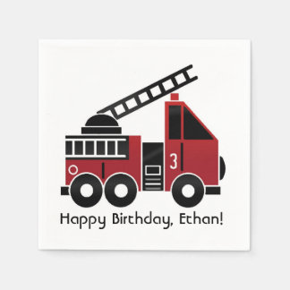 Fire truck napkins disposable napkin