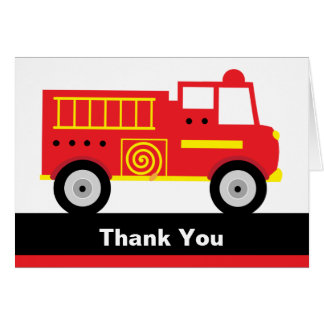 Fire Truck Note Cards
