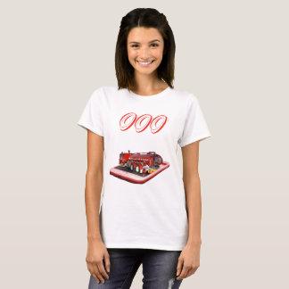 Fire Truck On Mobile Phone 000 Logo, T-Shirt