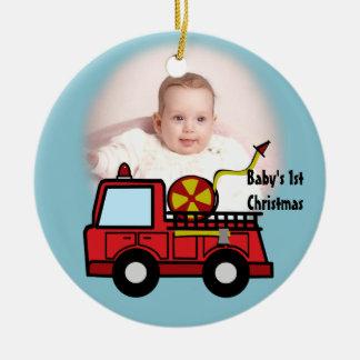 Fire Truck Photo Decoration