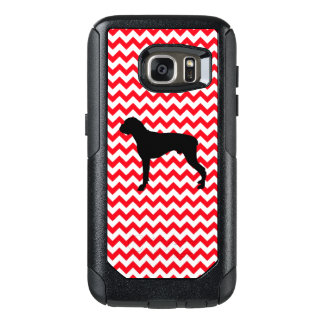 Fire Truck Red Chevron With Boxer OtterBox Samsung Galaxy S7 Case