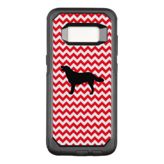 Fire Truck Red Chevron With Golden Silhouette OtterBox Commuter Samsung Galaxy S8 Case