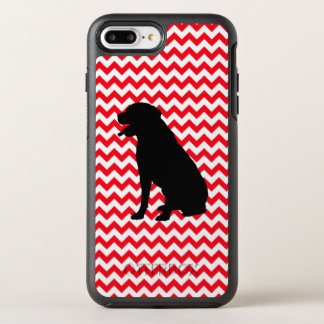 Fire Truck Red Chevron With Lab Silhouette OtterBox Symmetry iPhone 8 Plus/7 Plus Case