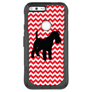 Fire Truck Red Chevron With Schnauzer OtterBox Commuter Google Pixel XL Case