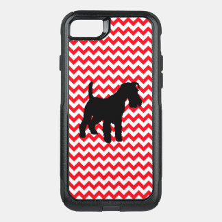Fire Truck Red Chevron With Schnauzer OtterBox Commuter iPhone 8/7 Case