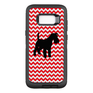 Fire Truck Red Chevron With Schnauzer OtterBox Defender Samsung Galaxy S8+ Case