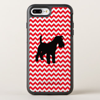 Fire Truck Red Chevron With Schnauzer OtterBox Symmetry iPhone 8 Plus/7 Plus Case