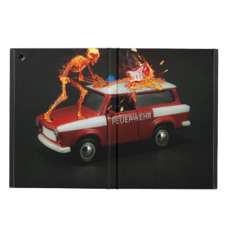 Fire truck skeleton iPad air cover