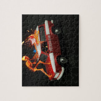 Fire truck skeleton jigsaw puzzle