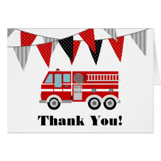 Fire Truck Thank You Card