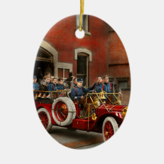 Fire Truck - The flying squadron 1911 Ceramic Ornament