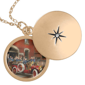 Fire Truck - The flying squadron 1911 Locket Necklace