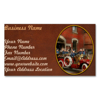 Fire Truck - The flying squadron 1911 Magnetic Business Card
