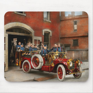 Fire Truck - The flying squadron 1911 Mouse Pad