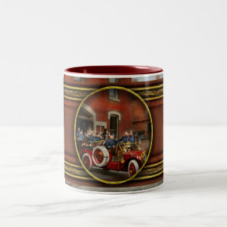 Fire Truck - The flying squadron 1911 Two-Tone Coffee Mug