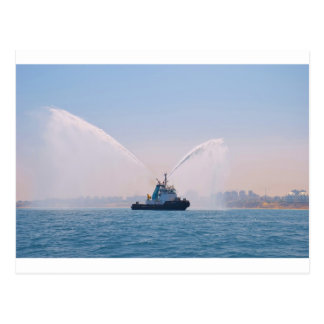 Fire Tug Welcome Postcard