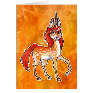 Fire Unicorn Greeting Cards