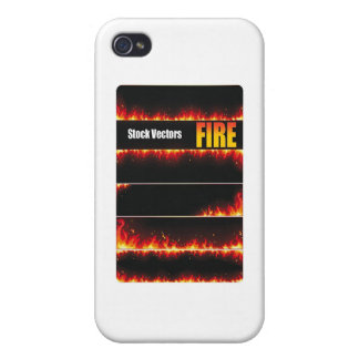 Fire Vector Cover For iPhone 4