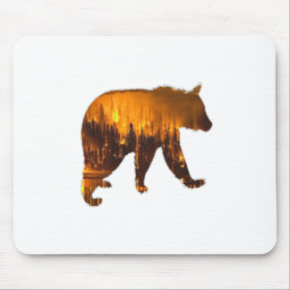 Fire Walker Mouse Pad