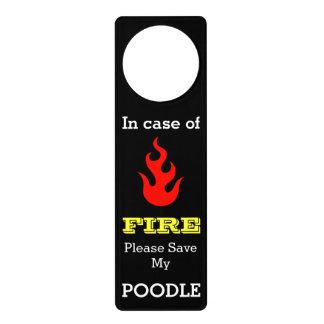 Fire Warning Save My Pet Customizable Door Hanger