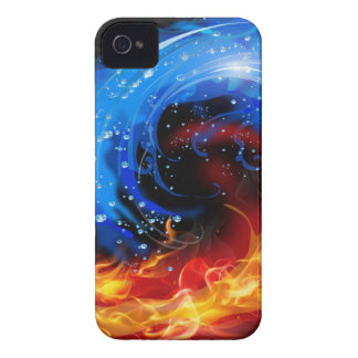 Fire & Water Cool Abstract iPhone 4 Case-Mate Cases