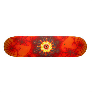 Fire Web - Fractal Art 21.3 Cm Mini Skateboard Deck